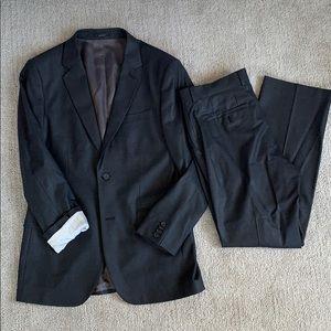 Express Men's Dark Grey Suit